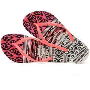 Havaianas Slim Tribal White Coral sandals